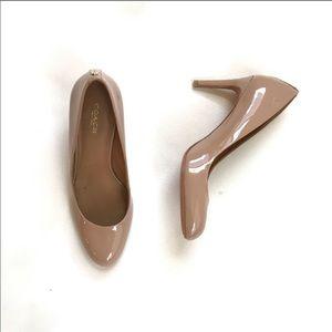 Coach Nala patent cappuccino heels